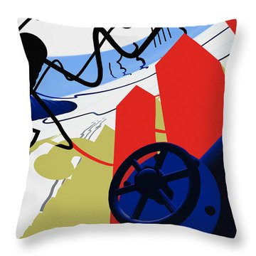 Connections Throw Pillow by Richard Rizzo