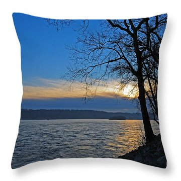 Throw Pillow featuring the photograph Conowingo Sunrise by Olivia Hardwicke