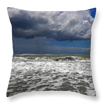 Conquering The Storm Throw Pillow