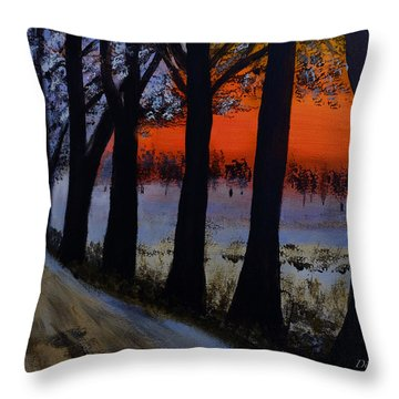 Conrad Road Sunrise Throw Pillow