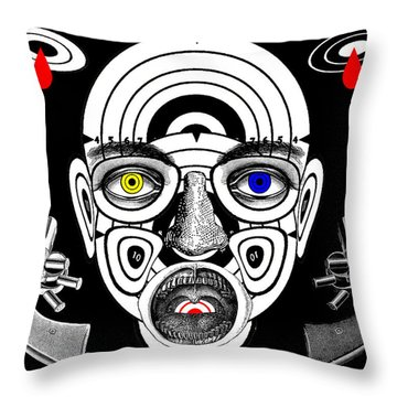 Conscience Of The Marksman Throw Pillow