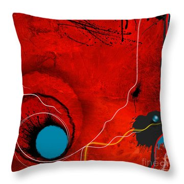 Consciousness Of The Inanimate Throw Pillow by Paul Davenport