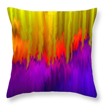 Throw Pillow featuring the mixed media Consciousness Rising by Carl Hunter