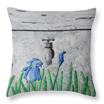 Throw Pillow featuring the painting Consequence by A  Robert Malcom