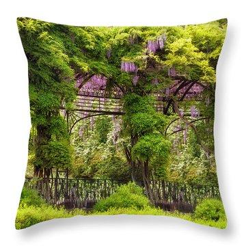 Conservatory Gardens Throw Pillow