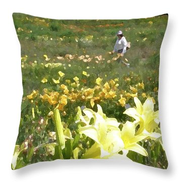 Consider The Lilies Of The Field Throw Pillow by Jean Hall