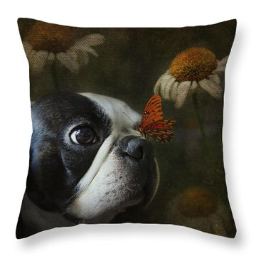 Constant Companion Throw Pillow by Kathleen Holley