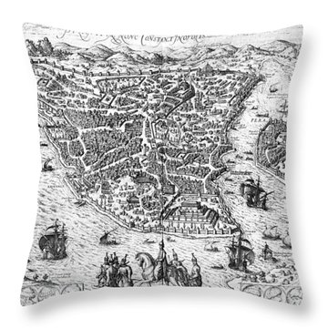 Constantinople, 1576 Throw Pillow by Granger