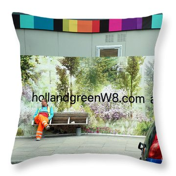 Construction 01 - Somewhere Under The Rainbow Throw Pillow by Pete Edmunds