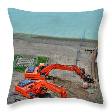 Construction Throw Pillow by Olivier Le Queinec