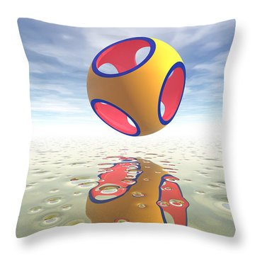 Constructive Solid Geometry Csg Throw Pillow by Carol and Mike Werner