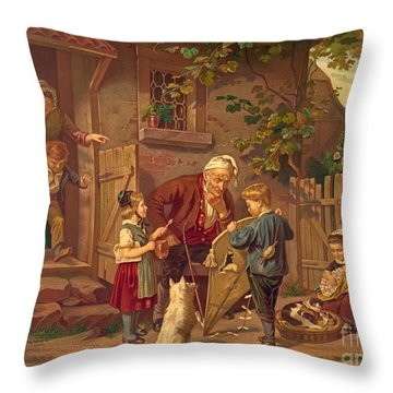 Consulting Grandfather 1871 Throw Pillow by Padre Art