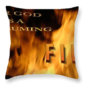 Consuming Fire Throw Pillow by Beverly Guilliams