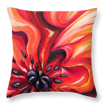Throw Pillow featuring the painting Consuming Fire by Meaghan Troup