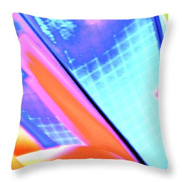 Consuming The Grid Throw Pillow by Xn Tyler
