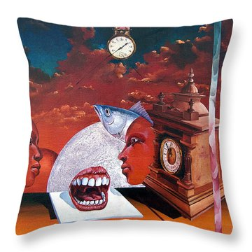 Consumption Of Time  Throw Pillow