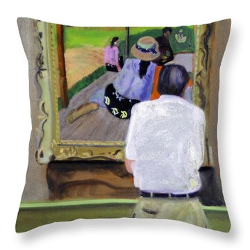 Contemplating Gauguin Throw Pillow