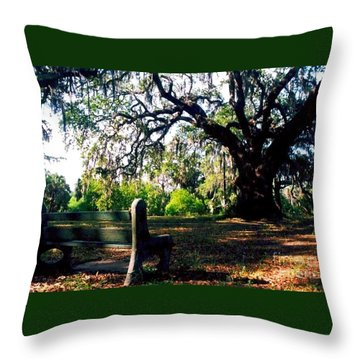 Throw Pillow featuring the photograph New Orleans Contemplating Solitude by Michael Hoard