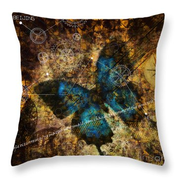 Contemplating The Butterfly Effect  Throw Pillow