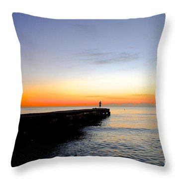Contemplating The Meaning Of Life Throw Pillow by Margie Amberge