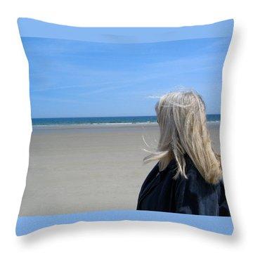 Contemplating The Stillness Throw Pillow