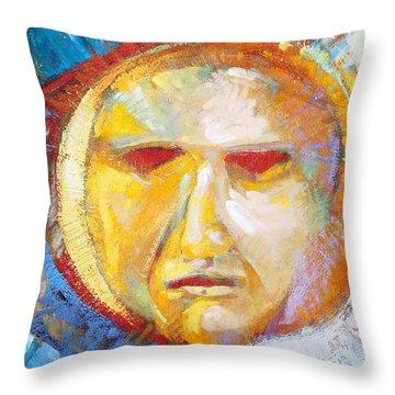 Contemplating The Sun Throw Pillow