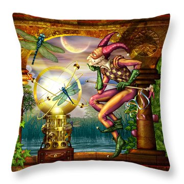 Contemplating The System Throw Pillow by Ciro Marchetti