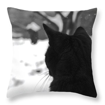 Contemplating Winter Throw Pillow
