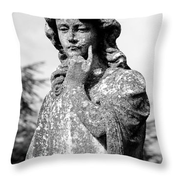 Contemplation Throw Pillow by Andy Crawford