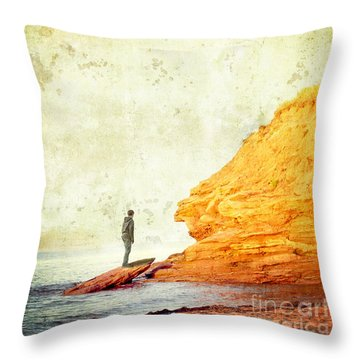 Contemplation Point Throw Pillow by Edward Fielding