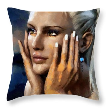 Contemplation Throw Pillow by Tyler Robbins