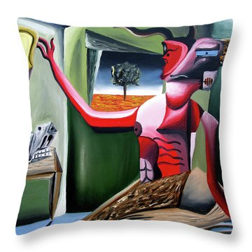 Contemplifluxuation Throw Pillow