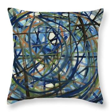 Contemporary Art Seventeen Throw Pillow by Lynne Taetzsch