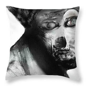 Contemporary Clown Throw Pillow
