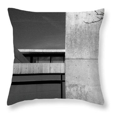 Contemporary Concrete Block Architecture Tree Throw Pillow