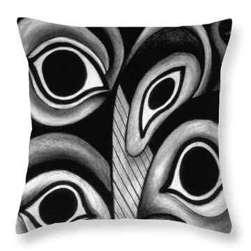 contemporary fantasy art - Eyes in the Woods Throw Pillow