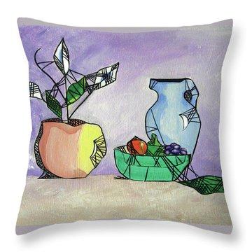 Contemporary Still Life Throw Pillow