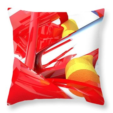 Contemporary Vector Art 1 Throw Pillow by Corporate Art Task Force