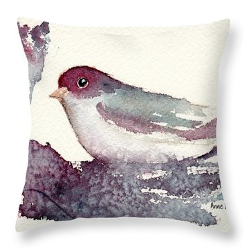 Throw Pillow featuring the painting Contented by Anne Duke