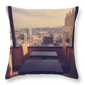Continental Breakfast Throw Pillow by Laurie Search