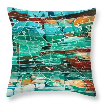 Continental Drift Throw Pillow by Pat Purdy