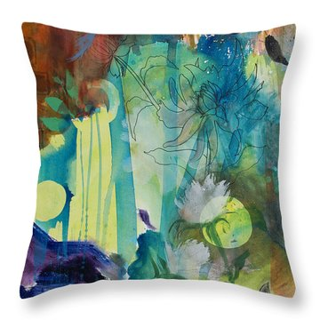 Throw Pillow featuring the painting Continuum by Robin Maria Pedrero