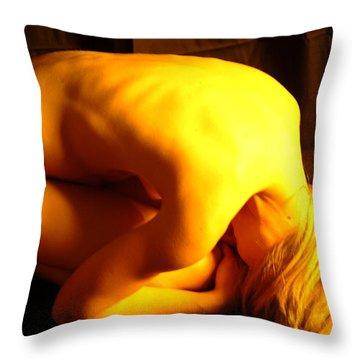 Contortion Throw Pillow