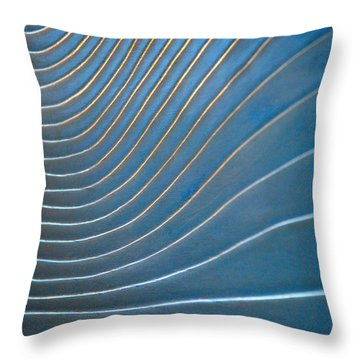 Contours 1 Throw Pillow by Wendy Wilton