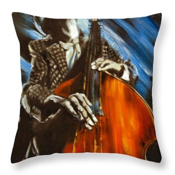 Contra-bass Throw Pillow