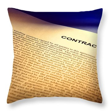 Contract Throw Pillow by Olivier Le Queinec
