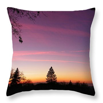 Contrail Streaks Throw Pillow by Tom Mansfield