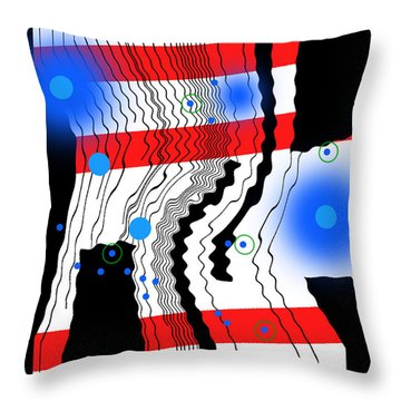 Contrapuctuous Rhythm Throw Pillow