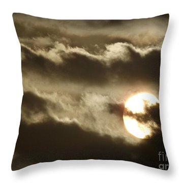 Throw Pillow featuring the photograph Contrast by Clare Bevan