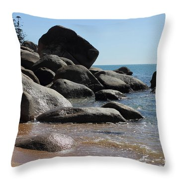 Contrast Throw Pillow by Jola Martysz
